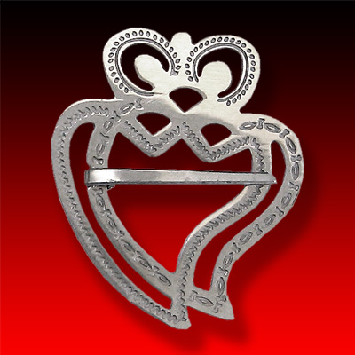 Double Heart trade silver Luckenbooth