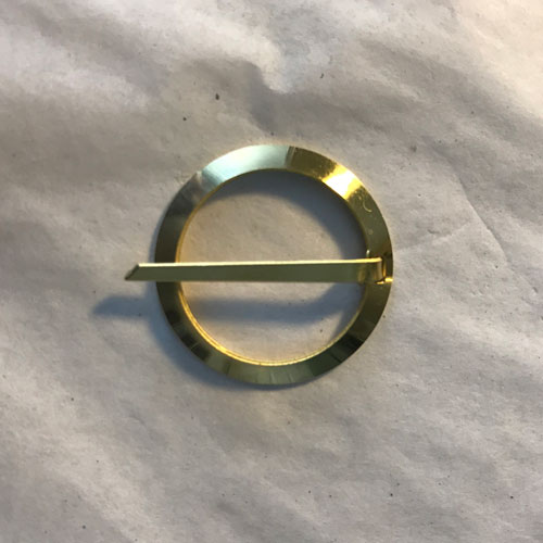 "Brass Ring Brooch 1"" size"