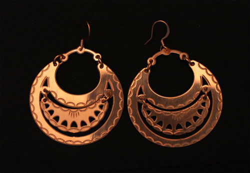Copper Seneca Earrings