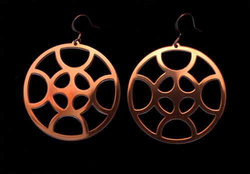 Copper Medium Sized Earwheels