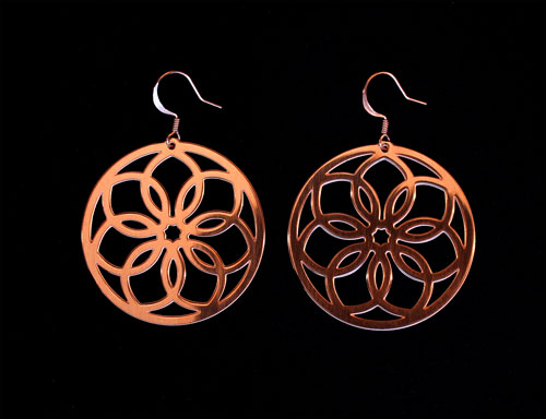 Copper Floral Ear Wheels