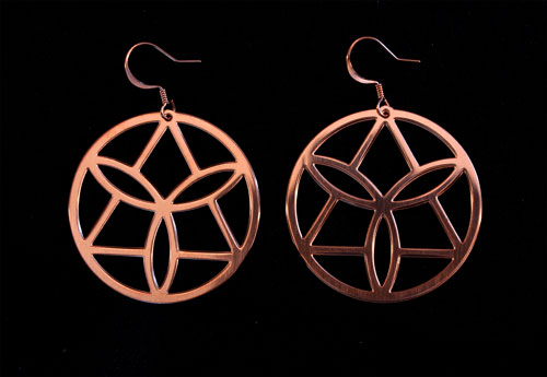 Copper Ear Wheels with Triangle Design