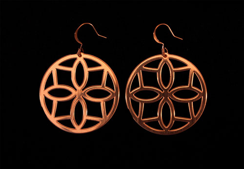 Copper Ear Wheels with Diamond Shape