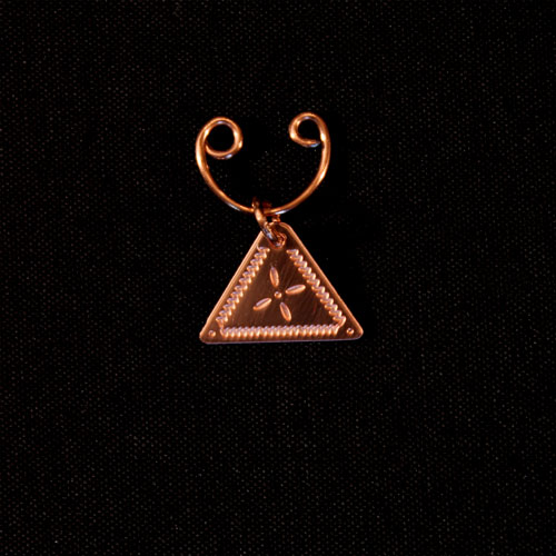 Copper Triangular Nose Ring
