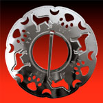 Large Wolf Clan Brooch