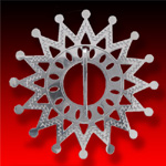 trade silver Medium Sun Brooch
