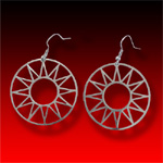 trade silver Sun Earrings