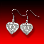 Small Heart & Thistle trade silver Earrings