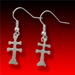 Small Cross of Lorraine trade silver Earrings