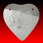 Heart trade silver Gorget