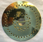 Large Brass Pierced Brooch