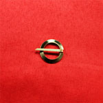 Small Brass Ring Brooch
