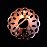 Copper Domed Brooch