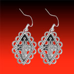 Tuscarora Earrings finished in .999 Silver