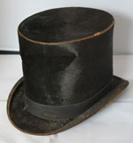 19th Century Top Hat, Original, Beaver Fur